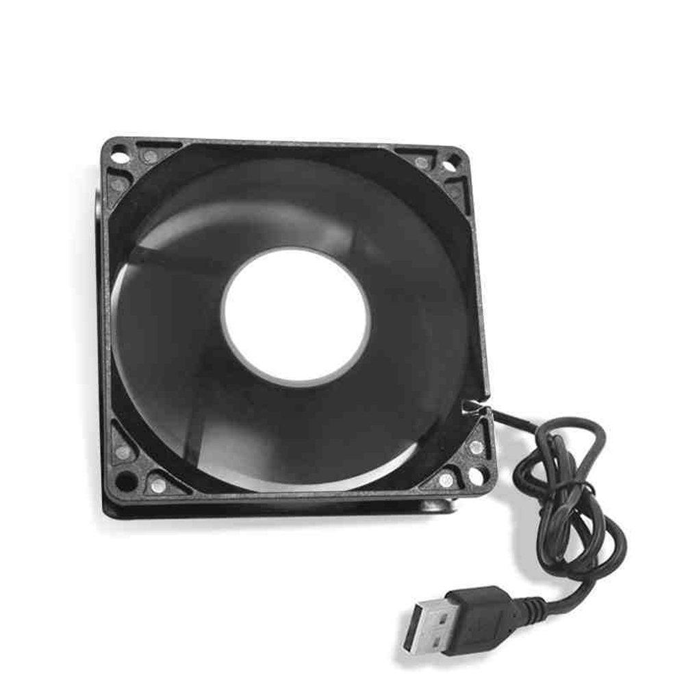 LEDMOMO USB Computer ventola Silent 120/mm Ventola raffreddamento Powered by USB PC raffreddamento ventola 2/pezzi per laptop PS4/Xbox Router acqua serbatoio TV Box nero