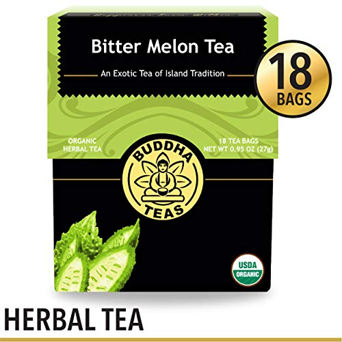 Organic Bitter Melon Tea, 18 Bleach-Free Tea Bags - Organic, Anti-Parasitic Tea Assists with Digestive Issues and Can Help Regulate Blood Sugar, No GMOs - Melon Organic Tea