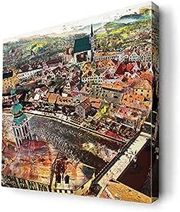 لوحة فنية جدارية لديكور المنزل من ديكالاك، لوحات مطبوعة على قماش الكانفاس باطار خشبي داخلي، CNVS-S2-0084