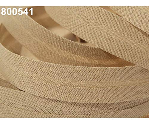 25m 800 541 Biscotti Single Fold Bias Binding Cotton Width 20mm, and Other Tape Folded, Haberdashery ()