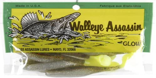"""Bass Assassin CSA27214 4/"""" Curly Shad 10 PK Chicken on a Chain 15037 for sale online"""
