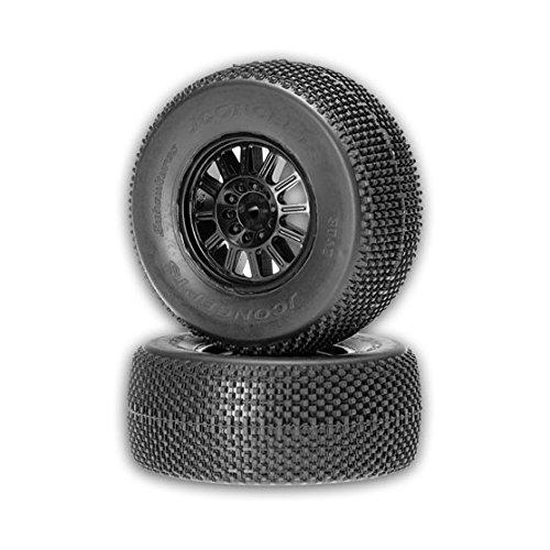 JCONCEPTS 3042-3210 Subcultures SC10 Fr Tire Grn w/Blk Whl (2) (3210 Car)