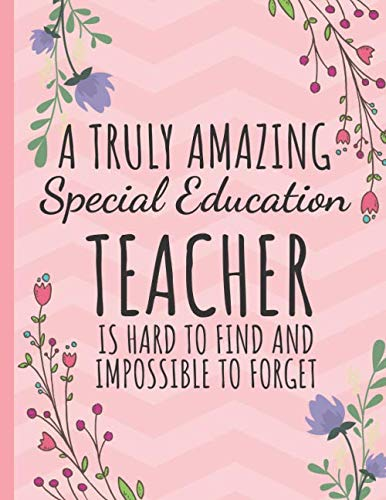 A Truly Amazing Special Education Teacher: Teacher Notebook: Perfect Year End Graduation or Thank You Gift for Teachers