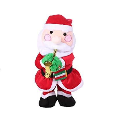 Afazfa Singing and Dancing Funny Santa Claus Elk Snowman Musical Christmas Toy (A): Clothing