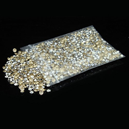 4.5mm pack of 10000pcs Acrylic Crystal Diamond For Vase Fillers, Party Table Scatter, Wedding, Photography, Party Decoration, Crafts DIY Project - champagne & - Silver Champagne