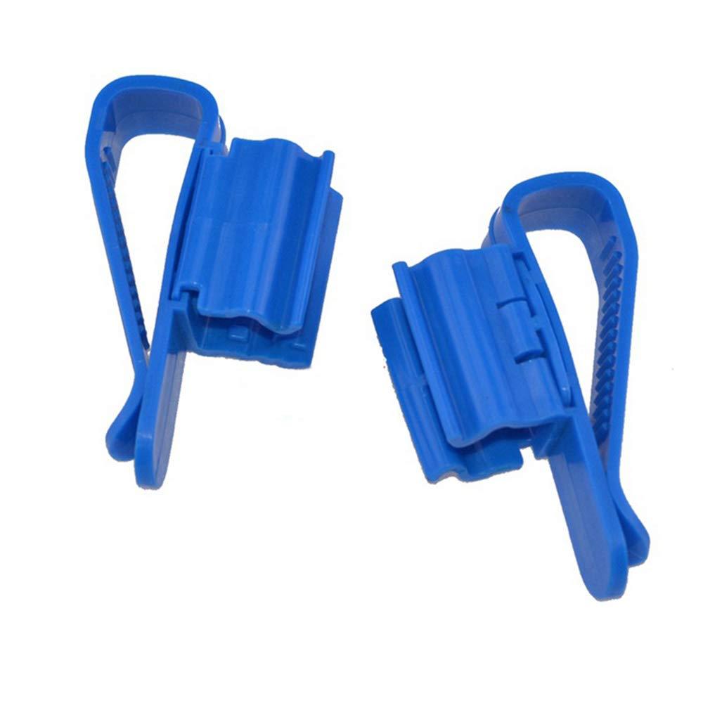 Lyanther Soporte de Manguera de plástico Clip de fijación Ajustable de plástico Abrazadera de sifón automático para Cerveza casera Fabricación de Tubo de Agua (Paquete de 2)