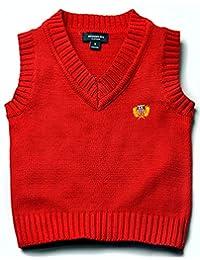 Kids Boys Grils Cotton Knit Sweater Vest V-Neck Students Sweater 2T-7T