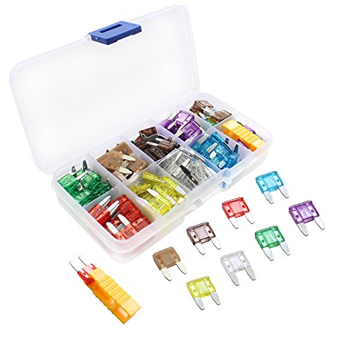 160pcs Mini Small Fuse Assortment, 5 7.5 10 15 20 25 30 35 AMP Car Boat Truck SUV Automotive Replacement Fuses ATM/APM Small Blade Car Fuses by SIM&NAT