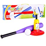 Lingxuinfo Automatic Launcher Baseball Bat Toys Baseball Trainer Practice Toy for Toddlers, kids