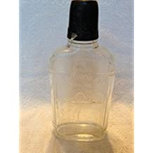 Old Mr Boston Brand embossed whiskey Bottle with lid
