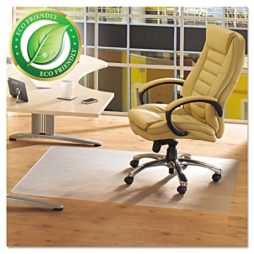 """MATDOM Chair Mat for Hard Floors,47""""×60""""Thick PVC Desk Floor Mat Rectangle for Office or Home,High Impact Strength,Life Time Guarrantee,Transparent"""