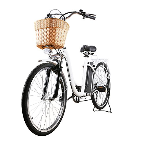 NAKTO City Adult Electric Bicycles 1 Year Warranty 250W Power Assisted Bicycle for Couples Models with Removable 36V 10A Large Capacity Lithium Battery and Charger Ebike