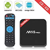 Leelbox M8S Pro 2017 High Configuration 4K Android 6.0 TV Box, Amlogic S905X, Quad Core CPU 64Bits, 2G/8G Dual-Band and WiFI 2.4G/5G