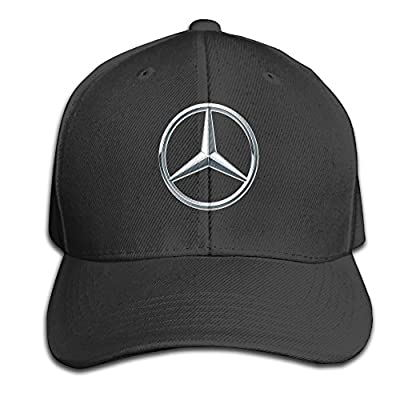 BACADI Unisex Mercedes Benz Logo Adjustable Peaked Baseball Caps Hats Duck Tongue Hat