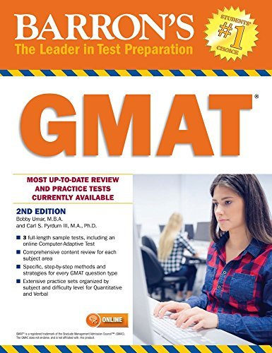 Barron's GMAT, 2nd Edition [1/1/2017] Bobby Umar M.B.A.