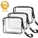 Best Bags For Less Makeup Travel Bags - 3 PACK TSA Approved Toiletry Bag Ariza Clear Review