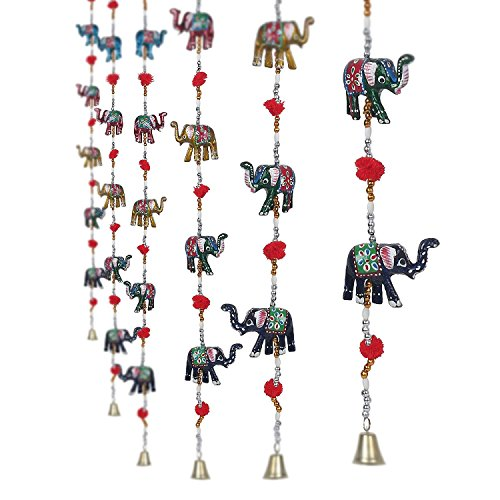 Beaded Elephant - Jaipuri haat Rajasthani Elephant Door Hanging Home Decor- Set of 2