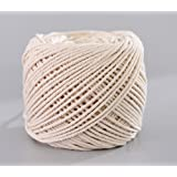 Handmade Decorations Natural Cotton Bohemia Macrame DIY Wall Hanging Plant Hanger Craft Making Knitting Christmas Cord Rope Natural Color Beige (3mm x 100m(about 109 yd))