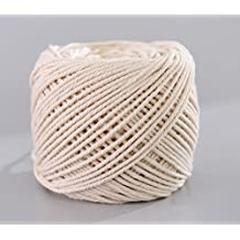 Handmade Decorations Natural Cotton Bohemia Macrame DIY Wall Hanging Plant Hanger Craft Making Knitting Christmas Cord Rope Natural Color Beige (4mm x 100m(about 109 yd))