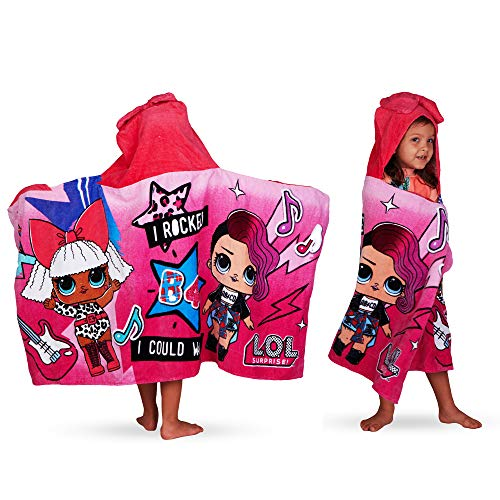 L.O.L. Surprise! Soft Cotton Hooded Bath Towel Wrap 24