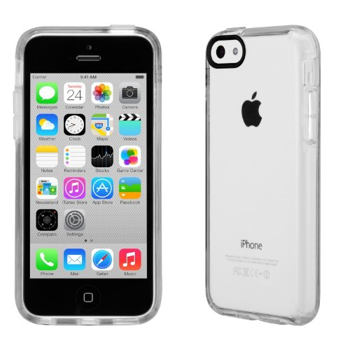 Speck Gemshell Hard Case for iPhone 5c - Speck Retail Packaging - Clear See-Through (Iphone 5c Att Case)