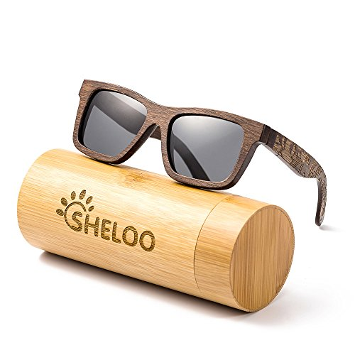 Wood Polarized Sunglasses Made From Sandalwood 100% UV Protection Wooden Bamboo - One Sunglasses
