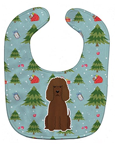Caroline's Treasures Christmas Baby Bib, Irish Water Spaniel, Large