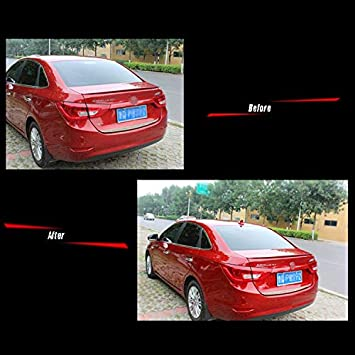 Red Folconauto Universal Auto Roof Shark Fin Antenna No Signal Function with Self Decoration
