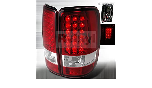 Amazon.com: GMC Yukon / Denali /XL 2000 2001 2002 2003 2004 2005 2006 LED Tail Lights - Red: Automotive