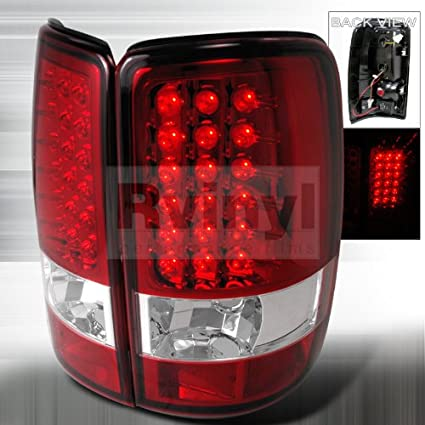 Amazon.com: GMC Yukon / Denali /XL 2000 2001 2002 2003 2004 2005 2006 LED Tail Lights - Red: Automotive