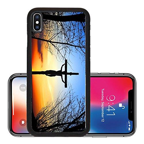 Price comparison product image Liili Premium Apple iPhone X Aluminum Backplate Bumper Snap Case Holy Cross Photo 10832341