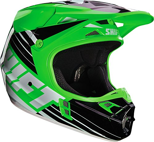 Shift Racing Assault Men's Off-Road Motorcycle Helmets - Green / (Assault Off Road Helmet)