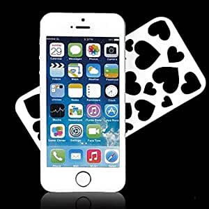 JJEHollowed-out Love Heart Design Hard Case for iPhone 5/5S (Assorted Colors) , Black