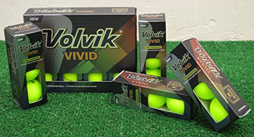 Volvik Vivid 2 Dozen Matte Green Golf Balls – New in Box