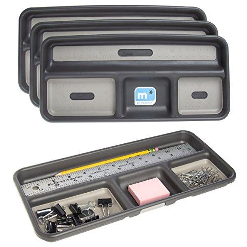 Madesmart (4 Pack) Small Plastic Drawer Organizer Trays 4-Section Office Desk Drawer Organizer Insert -