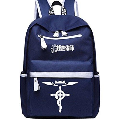 Siawasey Anime Fullmetal Alchemist Cosplay Book Bag Backpack Shoulder Bag School Bag