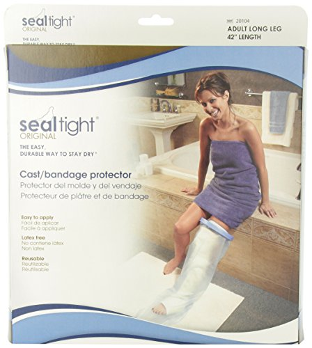 Seal Tight Original Cast and Bandage Protector, Best Watertight Protection, Adult Long Leg (Seal Tight Original Cast)