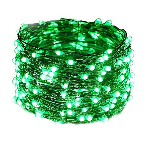 Decorative Rock Speaker - SUJING LED String Lights Solar Waterproof Dimmable Fairy String Copper Wire Lights for Christmas,DIY Bedroom, Patio, Garden, Gate, Yard, Party, Wedding (Green)