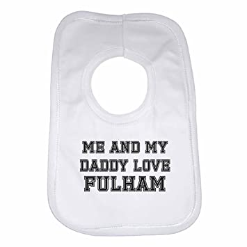 FULHAM Football Baby//Toddler Bib White//Blue//Pink Boy//Girl Personalised Gift