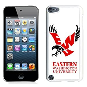 NEW Personalized Customized Ipod 5 Case with NCAA Big Sky Conference Football Eastern Washington Eagles 3 Protective Cell Phone Hardshell Cover Case for Ipod 5th Generation White