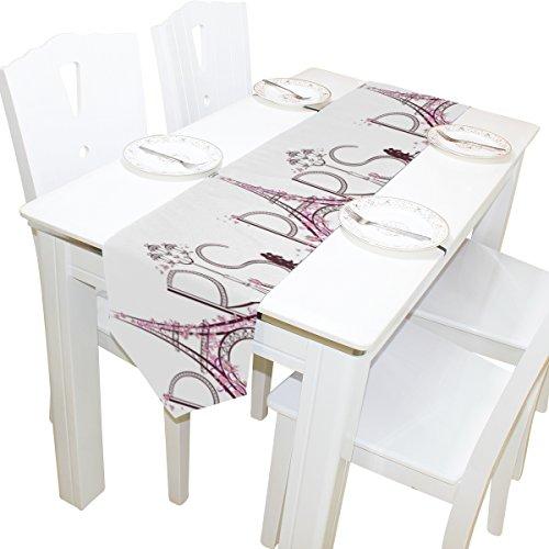 Yochoice Table Runner Home Decor, Stylish Paris Eiffel