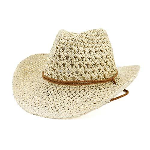 Lisianthus Men's & Women's Western Style Cowboy Cowgirl Straw Sun Hat -