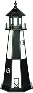 product image for DutchCrafters Decorative Lighthouse - Wood, Cape Henry Style (Black/White, 5)