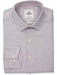 Men's Twill Dobby Soho Spread Fit Dress Shirt