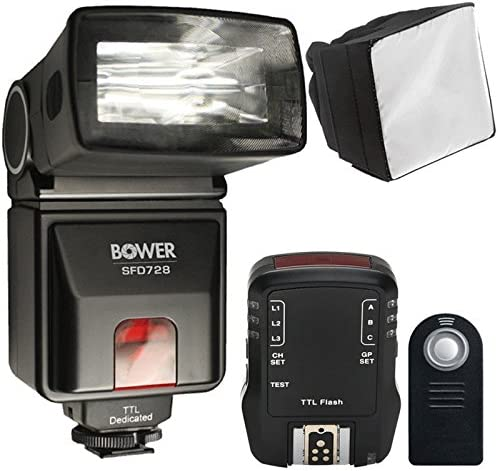 i-TTL Flash with Top Accessory Bundle For Nikon D5600 D7100 and D7200