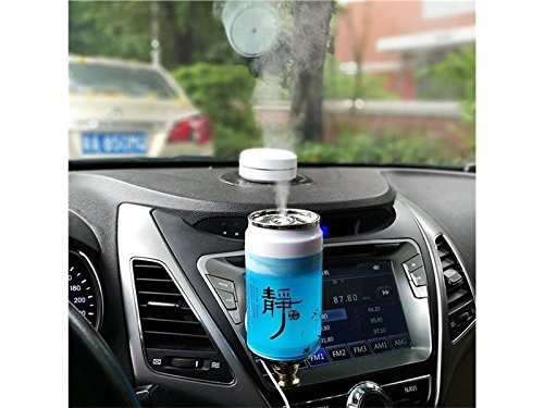 Yunqir Compatible Portable Oil Diffuser Humidifier Cans USB Humidifier Mute Household Desktop Purifying Air Ultrasonic Humidifier(Blue) by Yunqir (Image #3)