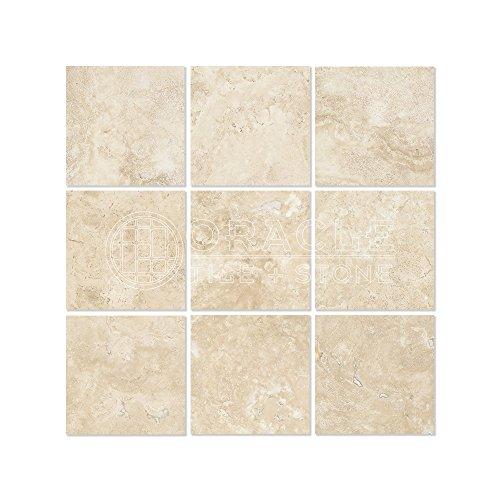 (Durango Cream (Paredon) Travertine 4 X 4 Field Tile, Filled &)