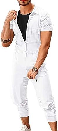 Pantalones Casuales De Manga Corta Para Hombre Mono Romper Street Monos De Moda Mono Corto Mamelucos Pantalones Largos Amazon Es Ropa Y Accesorios