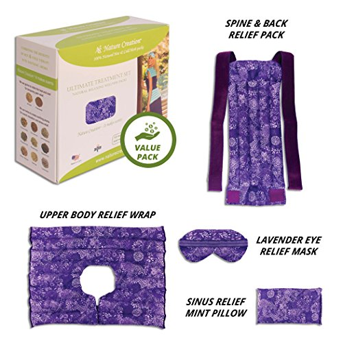 Nature Creation Ultimate Set- Herbal Heat Pack/Cold Pack - Hot and Cold Therapy (Purple - Herbal Packs Heating