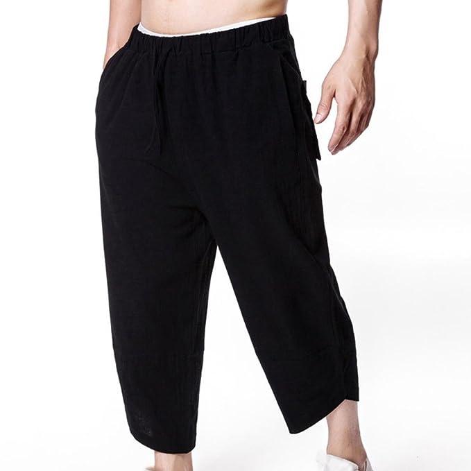 2b9b61cdda Men Pants Daoroka Linen Casual Loose Comfort Elastic Trouser at ...
